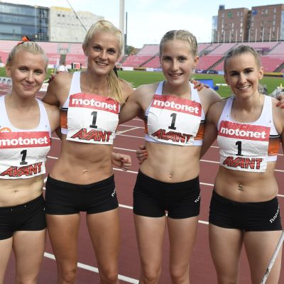 Sandra Eriksson, Karin Storbacka, Nathalie Blomqvist och Zenitha Eriksson