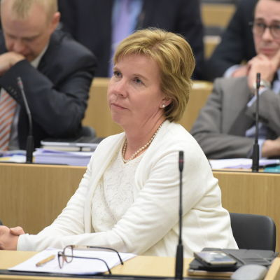 Anna-Maja Henriksson (SFP) i riksdagen.