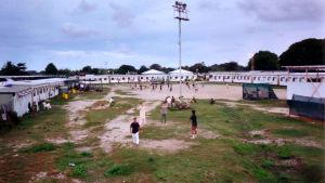 Ett av Australiens interneringsläger för båtflyktingar på Nauruöarna