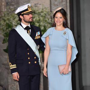 Prins Carl Philip och prinsessan Sofia på prins Oscars dop.