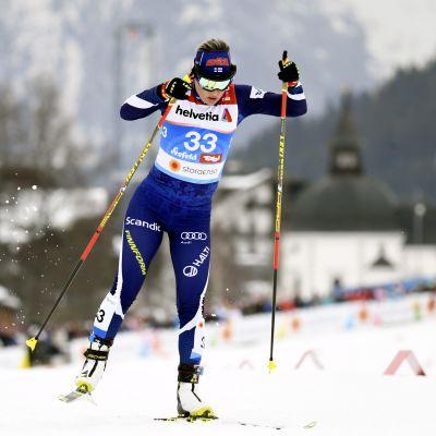"""Riitta-Liisa Roponen jätti haikeat jäähyväiset MM-kisoille: """"Älä kysy mitään niin, että alan itkeä"""""""