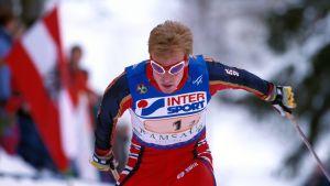 Björn Dählie skidar i VM 1999.