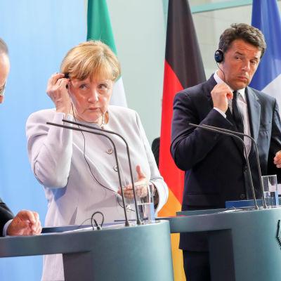 Möte efter Brexit i Bryssel, presskonferens.
