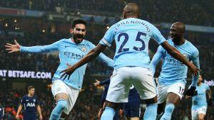 Ilkay Gündogan firar mål i Manchester City.