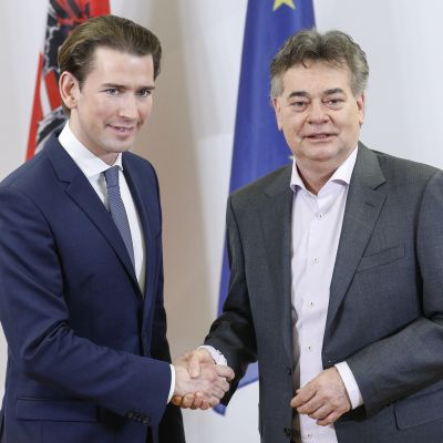 Sebastian Kurz  och Werner Kogler  1.1.2020