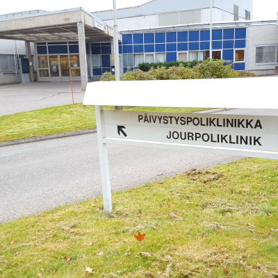 Jourpolikliniken vid Borgå sjukhus.