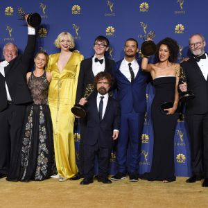 Game of Thrones-skådespelarna under Emmygalan 2018.