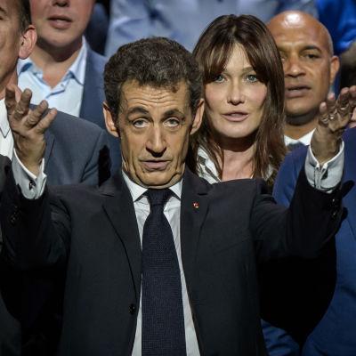 Nicolas Sarkozy på ett valmöte under primärvalen i oktober 2016.