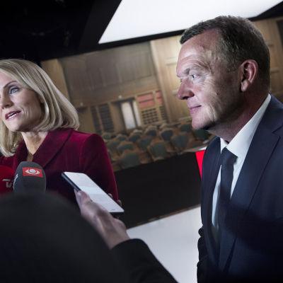 Helle Thorning Schmidt och Lars Løkke Rasmussen
