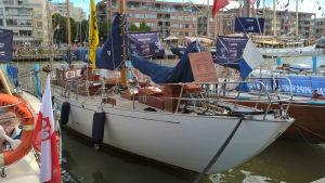 Segelbåten S/Y Navigator deltog i Tall Ships Races i Åbo 2017.