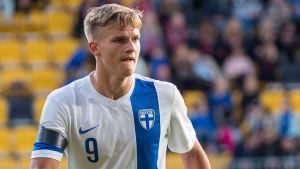 Marcus Forss, finländsk juniorlandslagsman i fotboll.