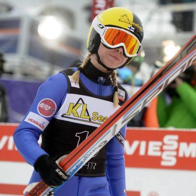 Julia Kykkänen lyckades inte slå sig in i tio-i-topp i Lahtisspelen.
