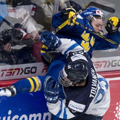 Sverige besegrade Finland i JVM i ishockey
