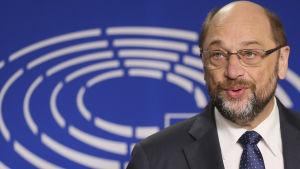 Martin Schultz talade till pressen i Bryssel 24 november 2016.