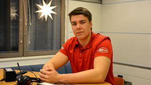 Daniel Wiberg i Sportmåndag 21.12.2015.