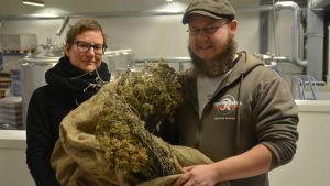 Susanna Kankare och Jari Leinonen vill skapa ett destilleri i Fiskars