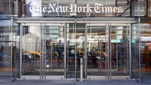 The New York Timesin pääsisäänkäynti