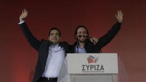 Alexis Tsipras och Pablo Inglesias