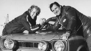 Hannu Mikkola och Timo Mäkinen, 1973.