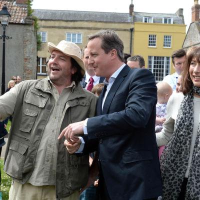 David Cameron gör valkampanj.
