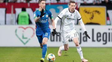 Kasper Hämäläinen under en match med Legia Warszawa.