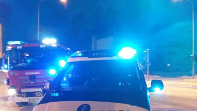 brandbil och polisbil