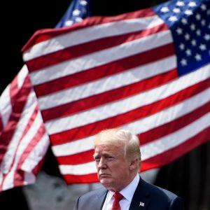 Donald Trump under en ceremoni i Vita huset den 5 juni 2018.
