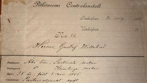 Hermo Gustav Willehadin potilaskansio
