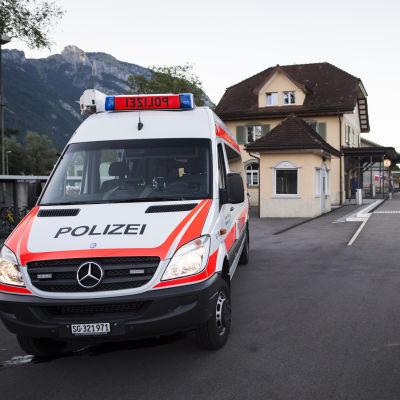 Tågstationen Salez i Schweiz