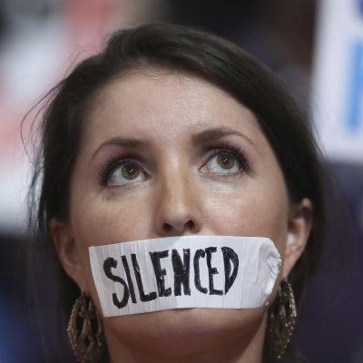 Bernie Sanders anhängare protesterade under demokraternas partikonvent i Philadelphia.