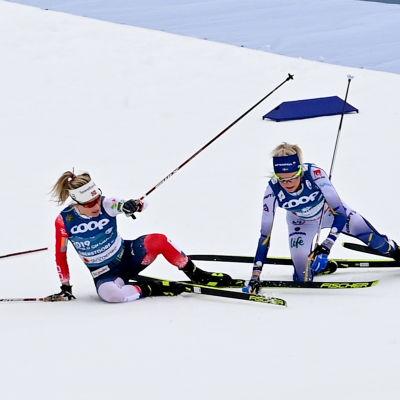 Therese Johaug och Frida Karlsson.