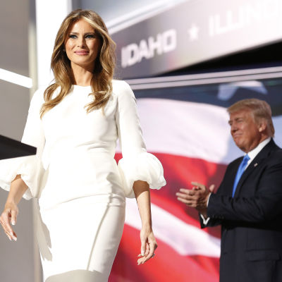 Melania Trump talade under republikanernas partikonvent i Cleveland.
