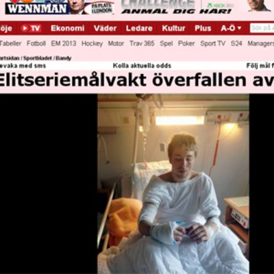 Kuvakaappaus Aftonbladetista