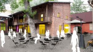 Magasingården vid det planerade Fortuna-kvarteret