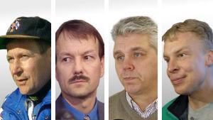 Pekka Vähäsöyrinki, Antti Leppävuori, Jari Piirainen och Jari Räsänen