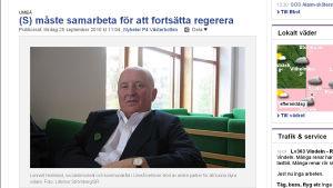 Lennart Holmlund, kommunalråd i Umeå.