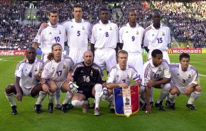 Frankrikes lag vid EM i fotboll 2000.
