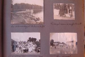 Bilder från Borgå ur Elsa Panelius album kring år 1915
