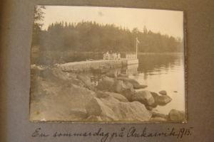 Bild från Borgå ur Elsa Panelius album kring år 1915