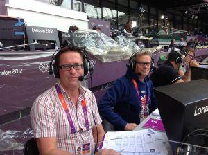 Danny Lindqvist och Leif Lampenius vid OS i London.