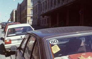80-märke på bil 1989.