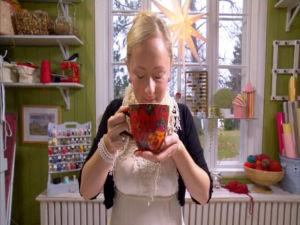 Teet doftar och smakar gott