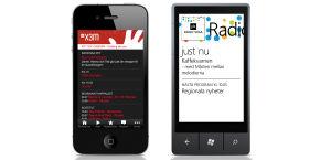 Mobilapplikationer för Radio Vega och X3M