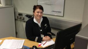 Turchef Anne Alm vid Finnair