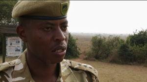 Paul Muya, parkvakt/talesman Kenya Wildlife Services