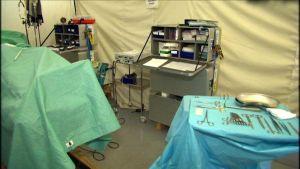Fältsjukhus redo att skeppas till krisområde