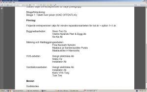 Lista över företag i Raseborg som staden har ramavtal om timarbeten med.