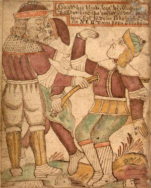 Höder dödar Balder med en pil av mistel.