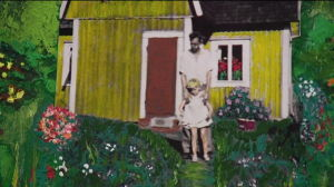 Tavla som skildrar Roslings barndom