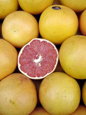 Grapefrukt med rött fruktkött.